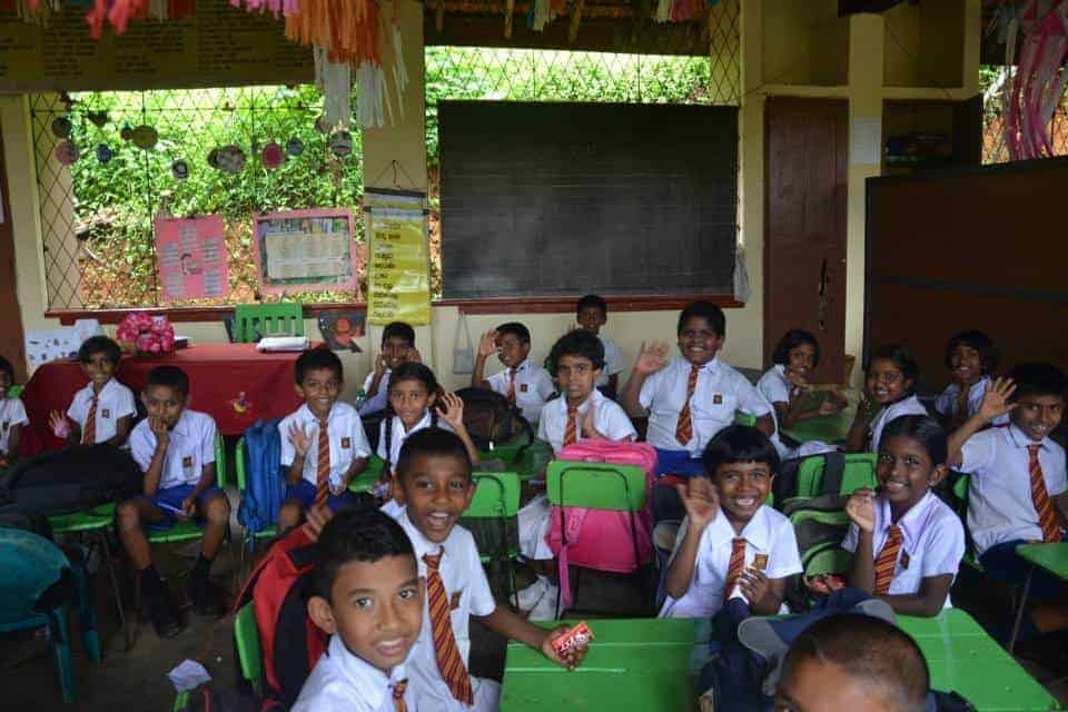 School children in Sri Lanka