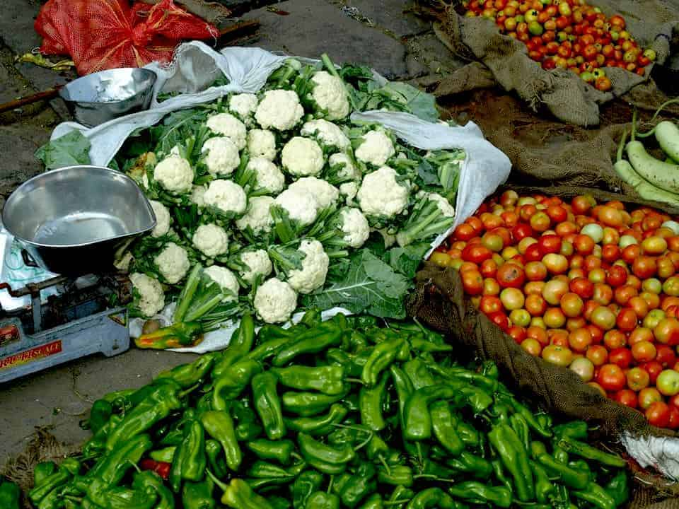 Rajasthan (Jaipur), Vegetables in indian markets