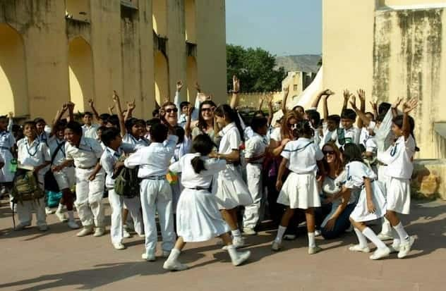 School kids in India