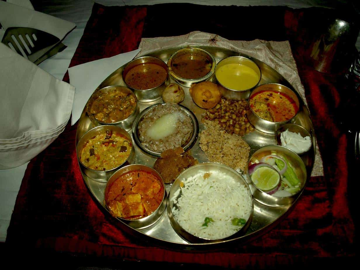 Rajasthan (Jaipur), Indian platter