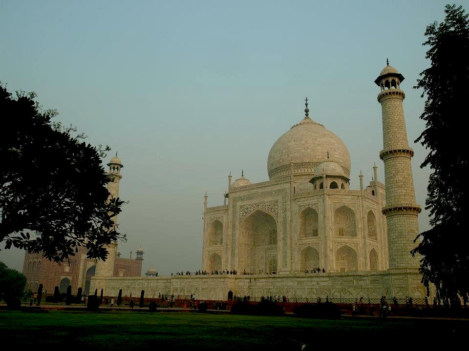 The temple of Taj Mahal in India