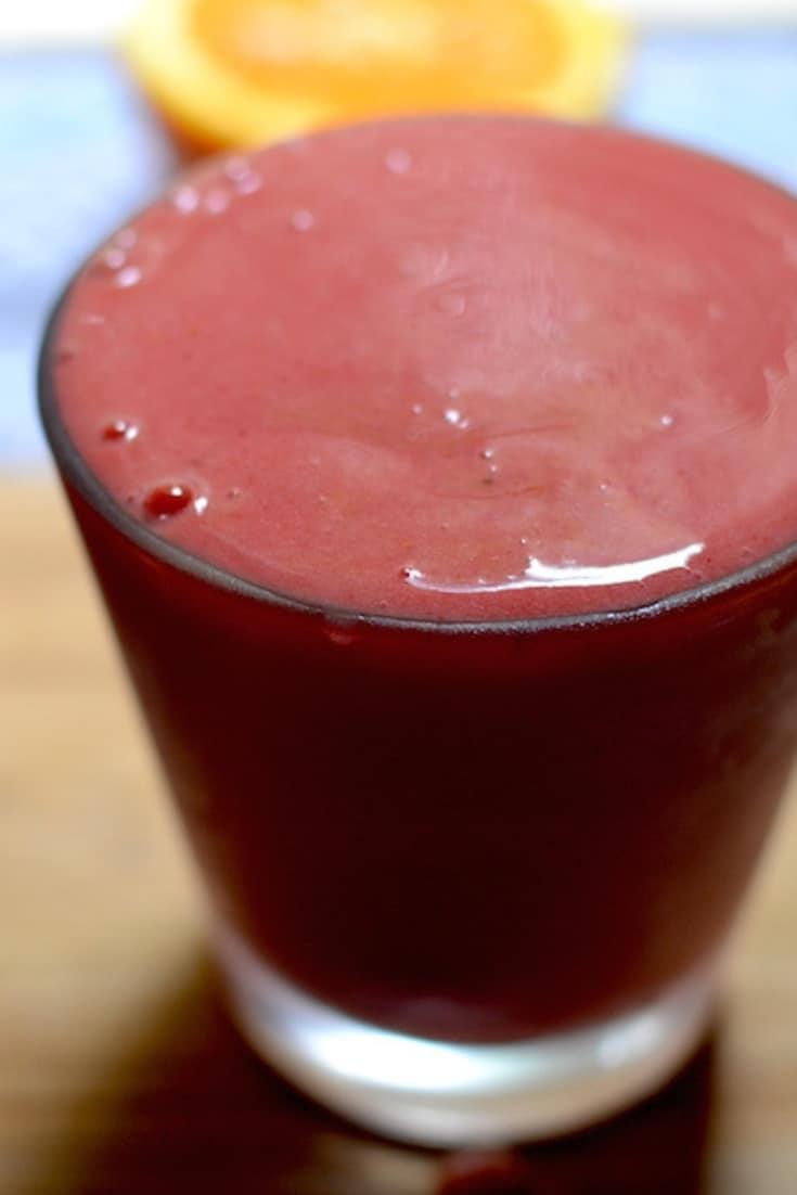 Frozen Sorbet in a glass