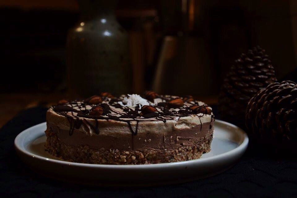 Τσίζκεικ Σοκολάτα Καφέ - Βίγκαν, Χωρίς ψήσιμο