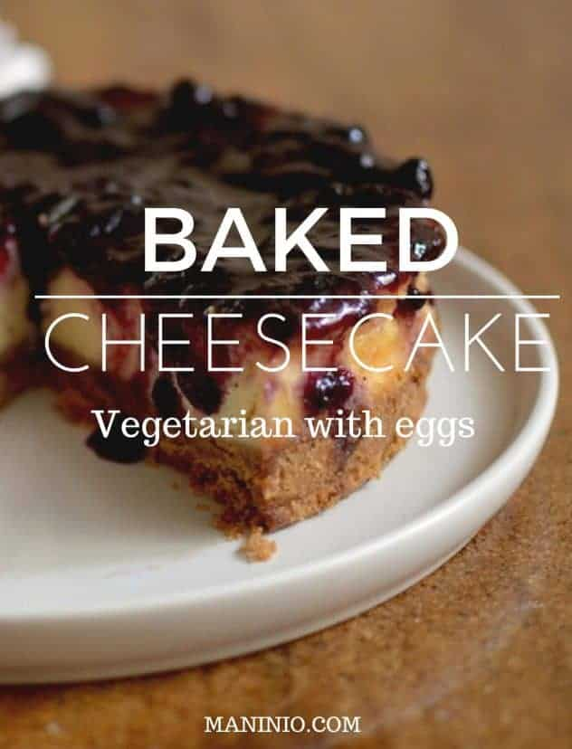 Close-up view of Baked Cheesecake - desserts - Vegan