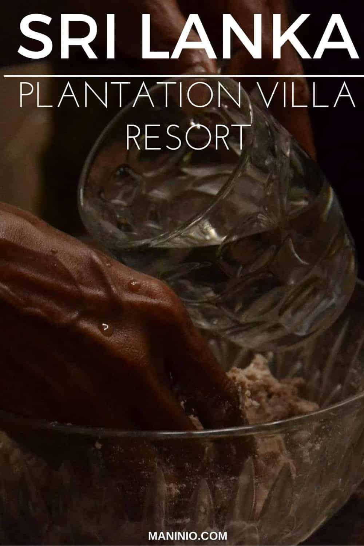 Plantation villa resort cooking class, Sri Lanka. maninio.com #resortsrilanka #cookingclasssrilanka