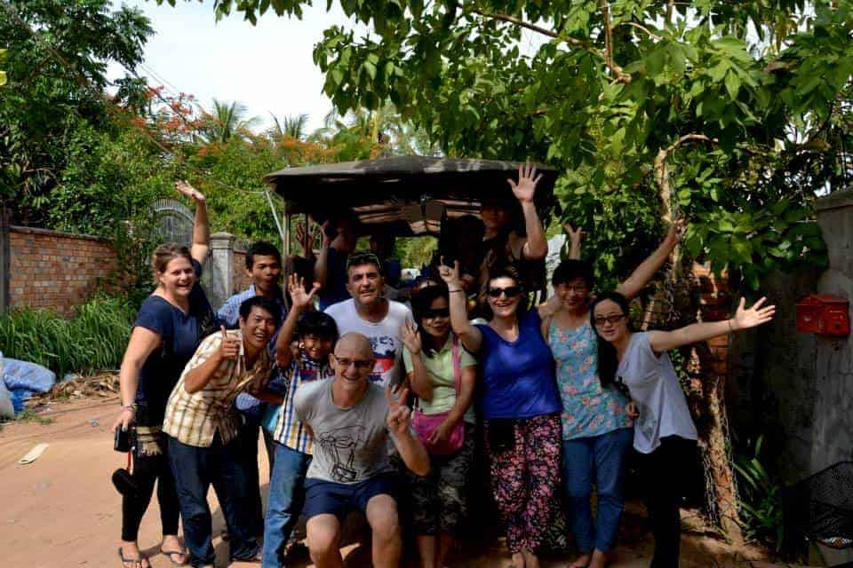 Volunteering team in Siem Reap