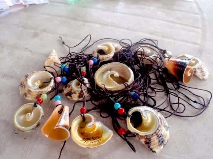 Traditional necklaces in Camiguin Island