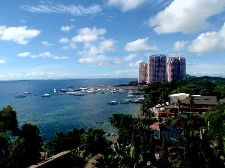 Cebu town with high rise buildings in B resort - cebu beach resorts