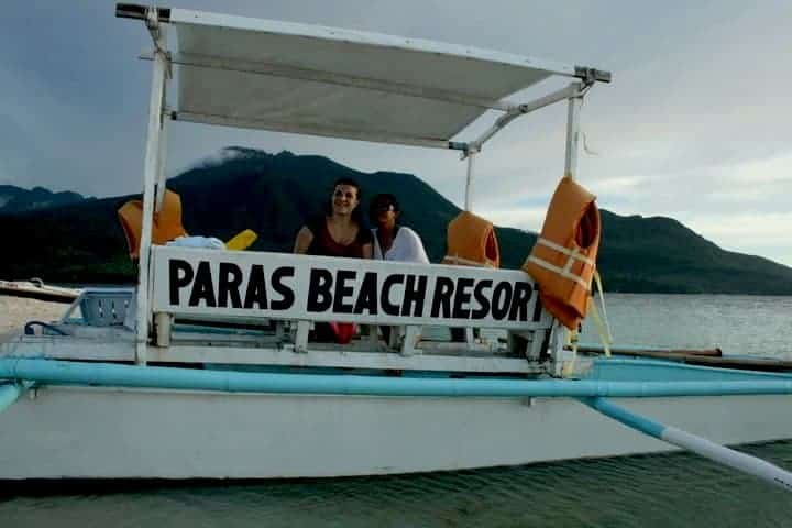 paras beach resort boar with lifejackets.