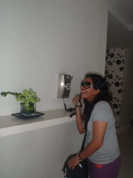 Having fun in Be resort in cebu, trying to phone