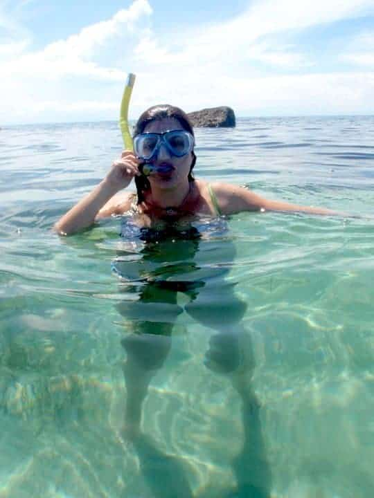 Snorkelling on the Initao beach.