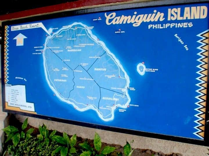 Camiguin island map