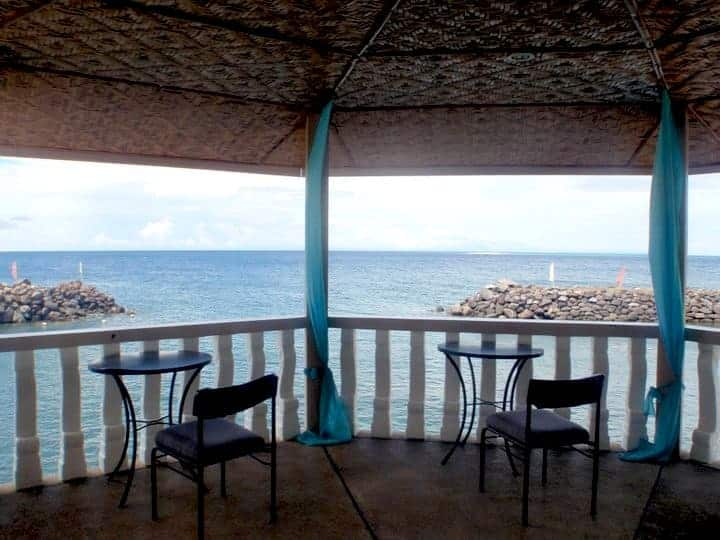 Paras beach resort balcony with 2 chairs
