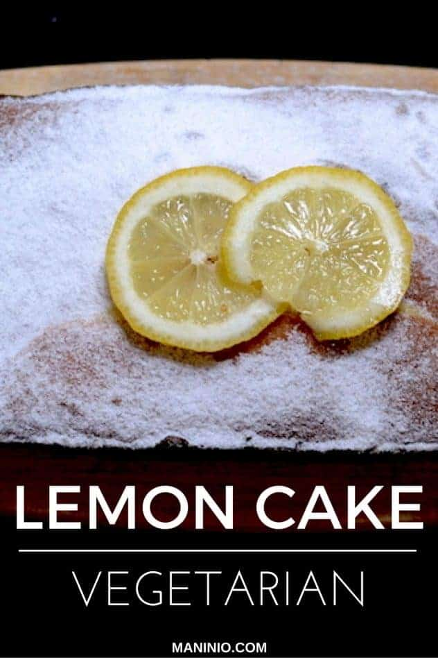 Lemon - cake - vegetarian - maninio - butter