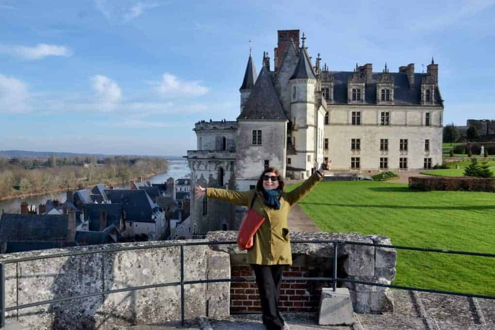 Happy girl in Chateaux Amboise