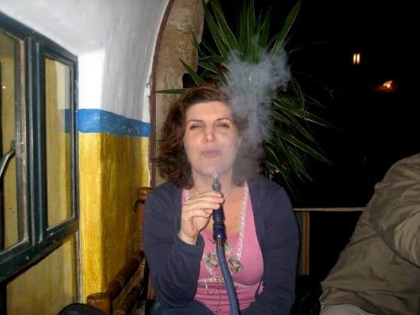 Shisha smoking in a restaurant outside petra