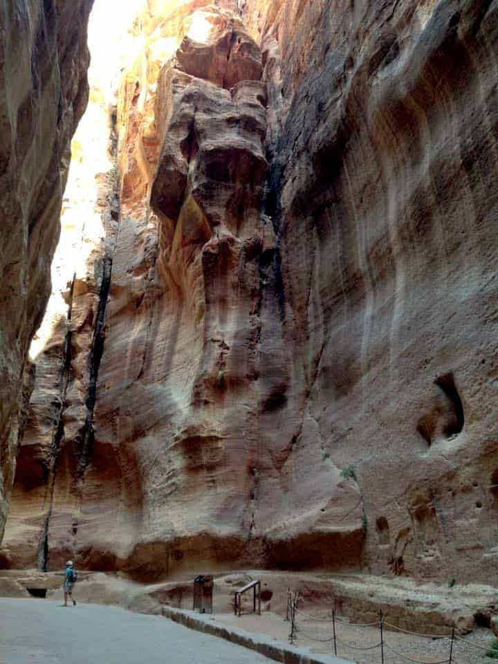 Inside the Siq In petra Jordan