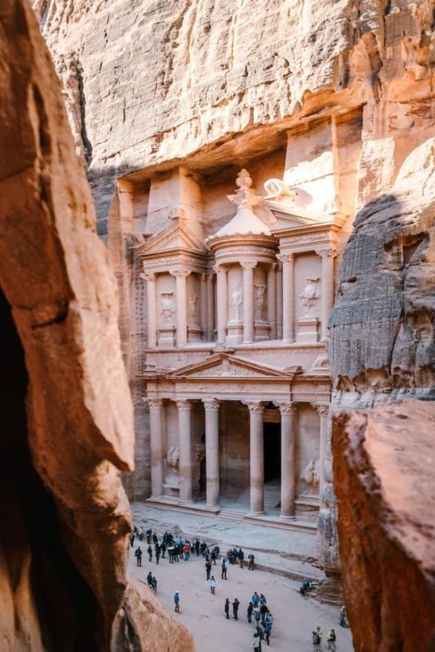 Treasure monument in Petra in Jordan