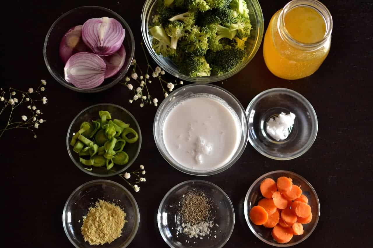 Ingredients for Vegan Broccoli Soup