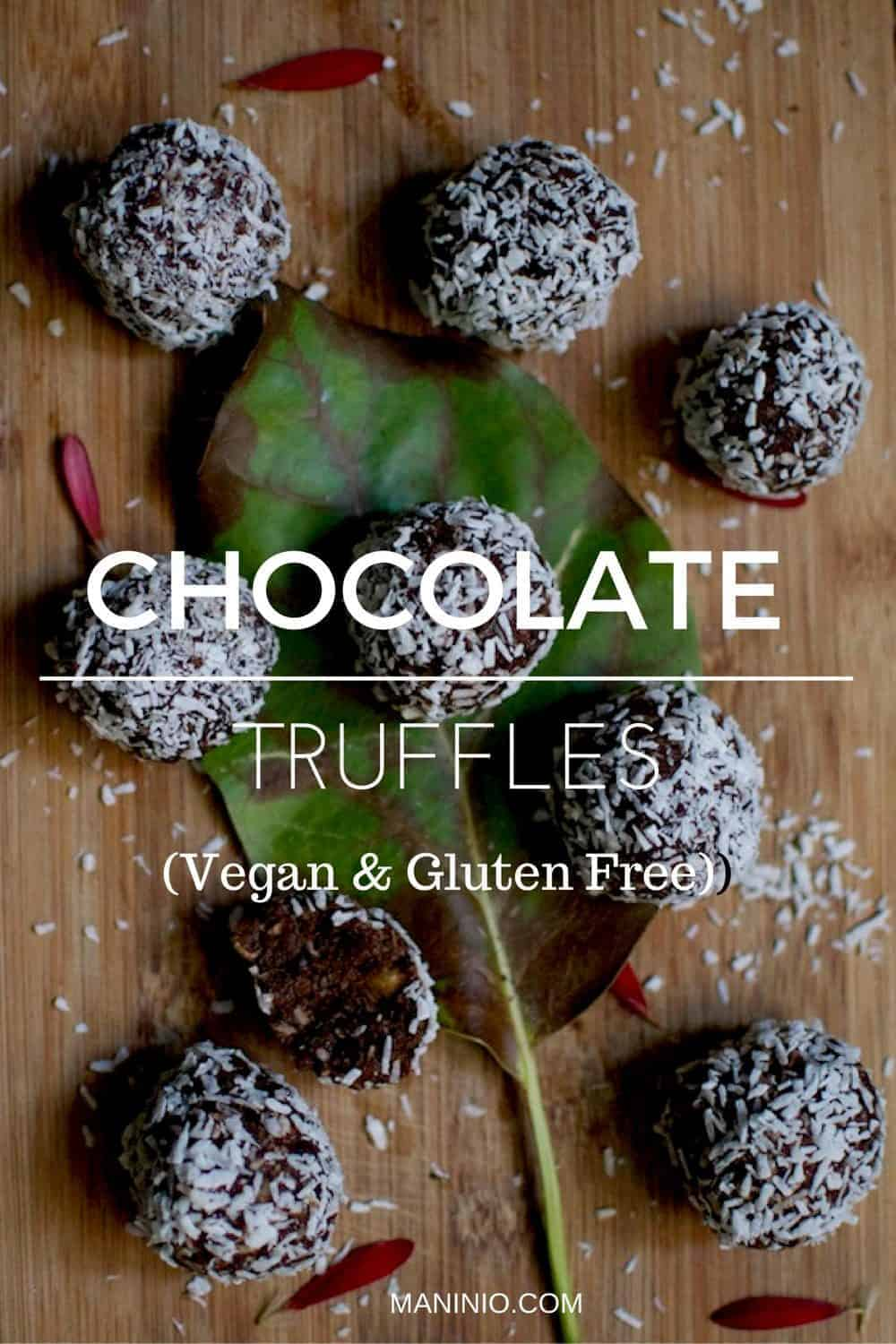 Vegan and Gluten Free Chocolate Truffles