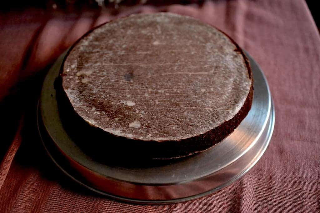 chocolate cake upside down