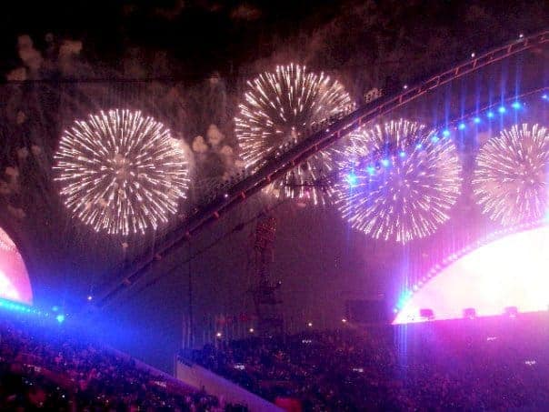 Fireworks celebrations in Qatar games