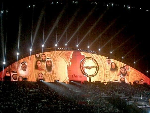 Light celebrations in Doha. maninio.com #qatardohaasiangames #Eidcelebrations