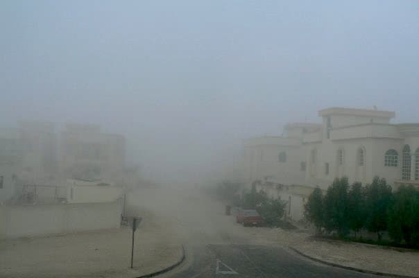 Foggy day in Qatar