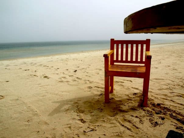 A chair in the beach