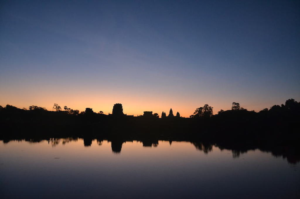 Blue sunrise Angkor Wat Temple, the best siem reap attractions