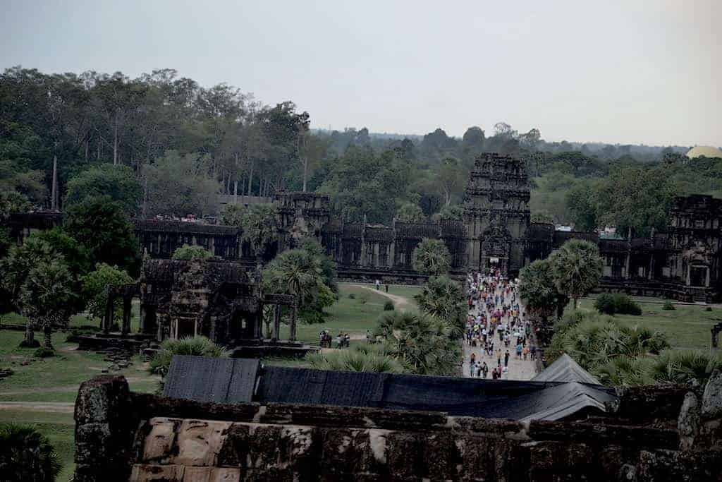 Tourists Angkor Wat Temple