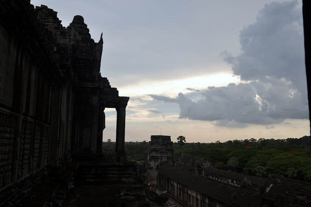 Sunset in Angkor Wat Temple