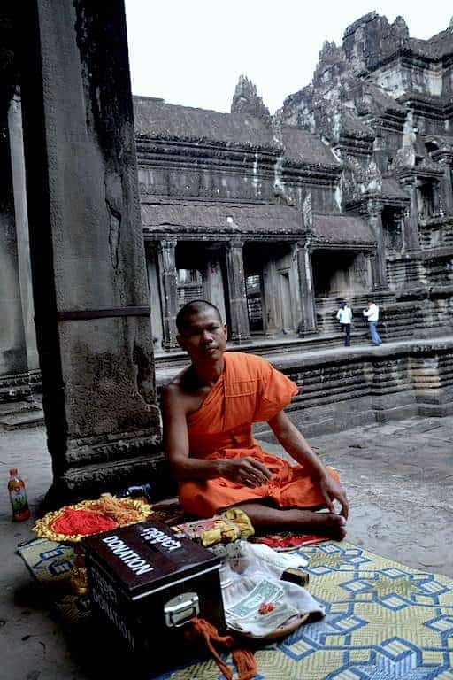 A monk in Angkor Wat Temple