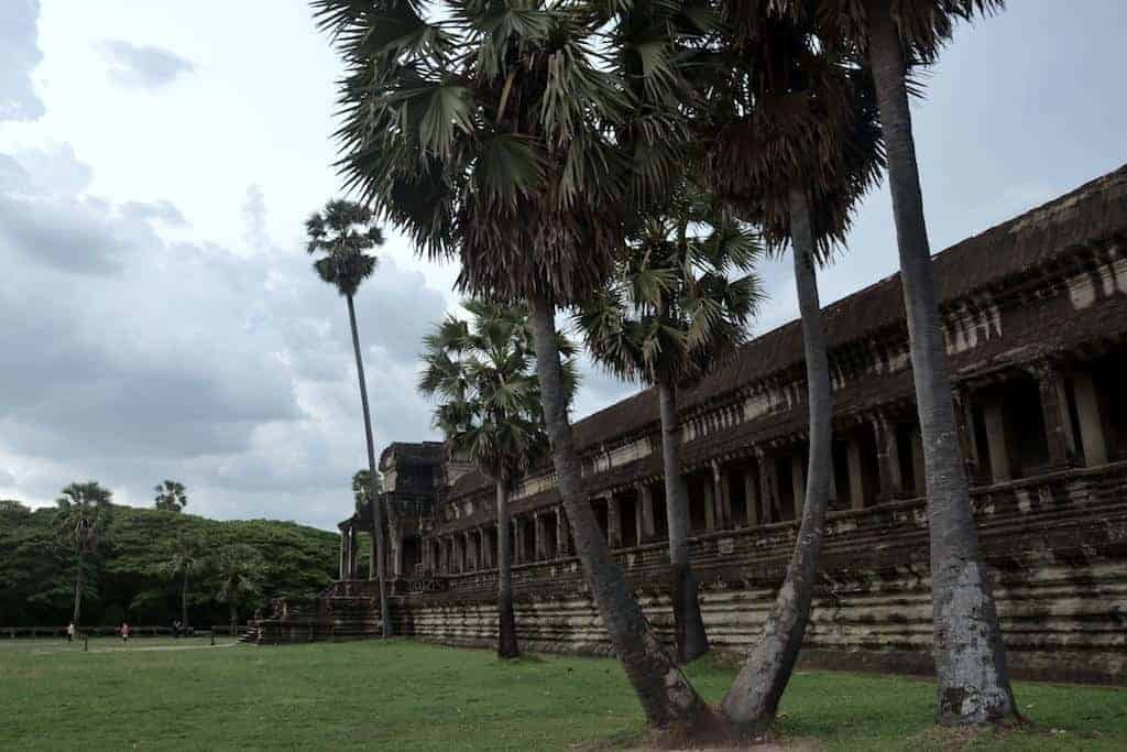 Side of Angkor Wat Temple