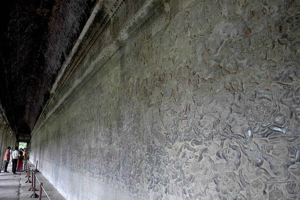 Wall design of Angkor Wat Temple