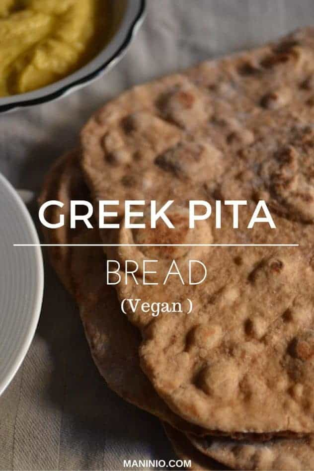 Vegan - Greek - pitta - bread