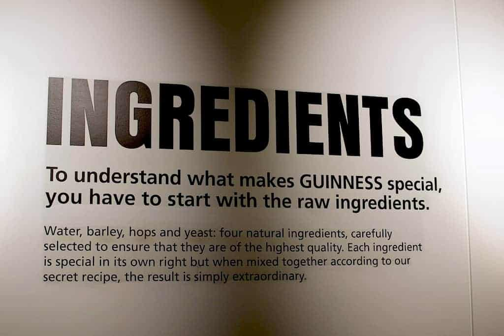 Guinness Beer ingredients