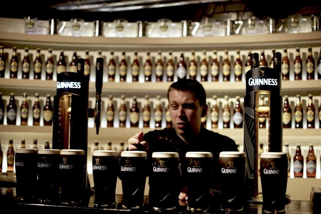 Guinness beer academy in Dublin