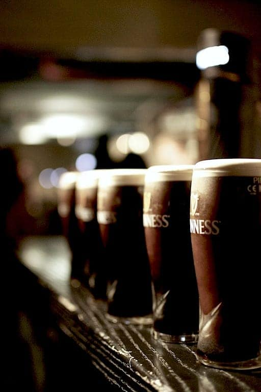 Guinness Experience beer glasses