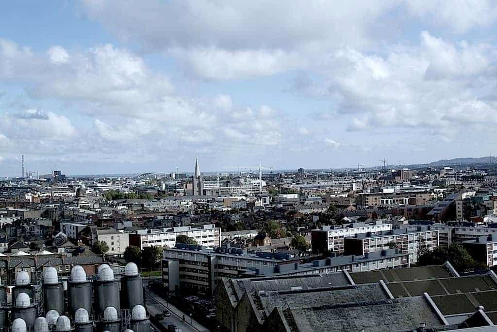 Guinness Experience roof view to Dublin