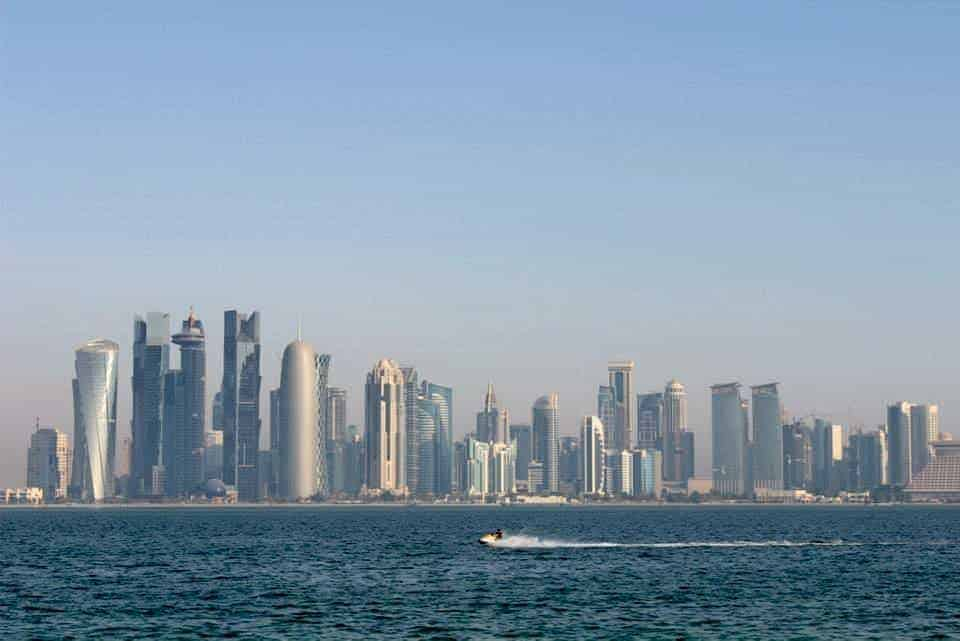Corniche view in Qatar