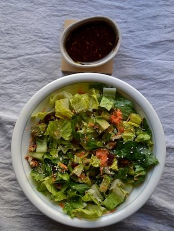 lettuce / avocado salad with vinaigrette