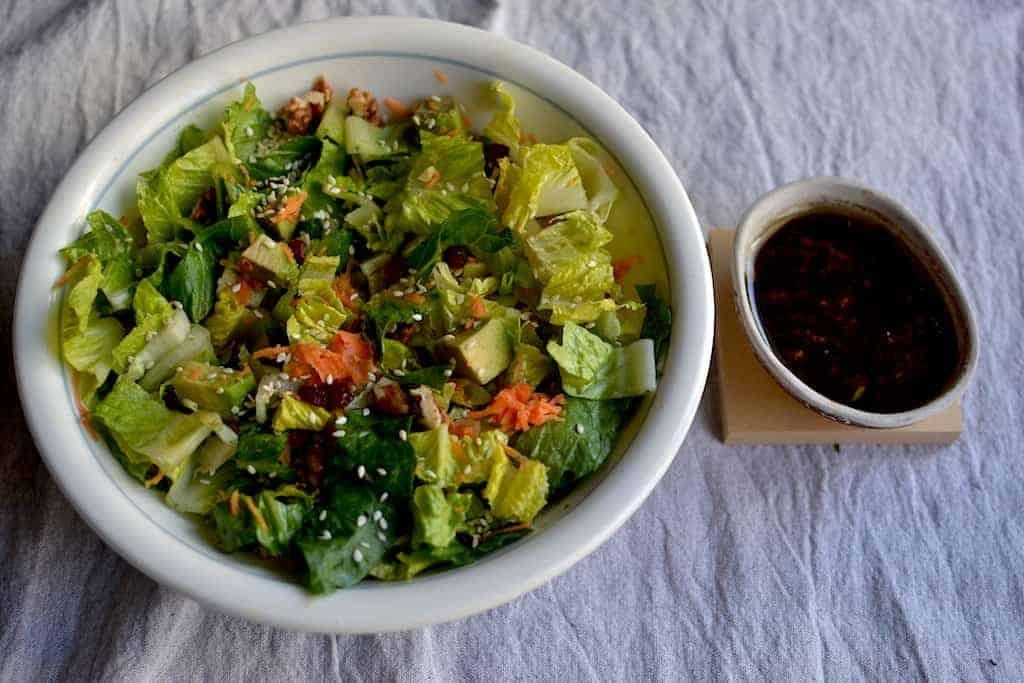 lettuce Salad with vinegar