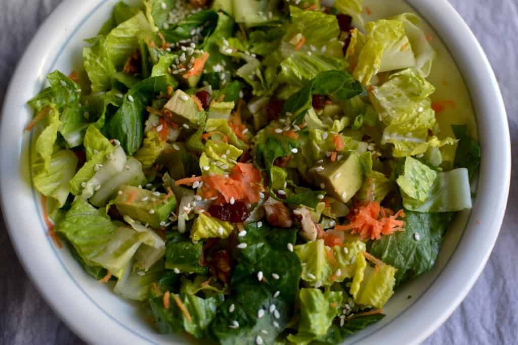 Lettuce and Avocado Salad with Mustard Vinaigrette