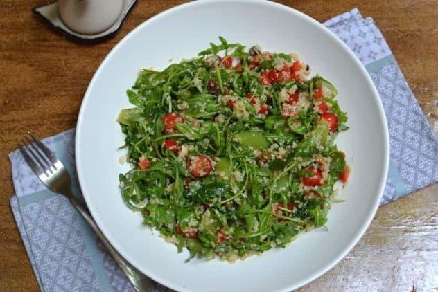 quinoa salad with lemon dressing