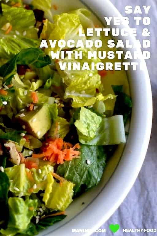 Lettuce & Avocado Salad with Mustard Vinaigrette