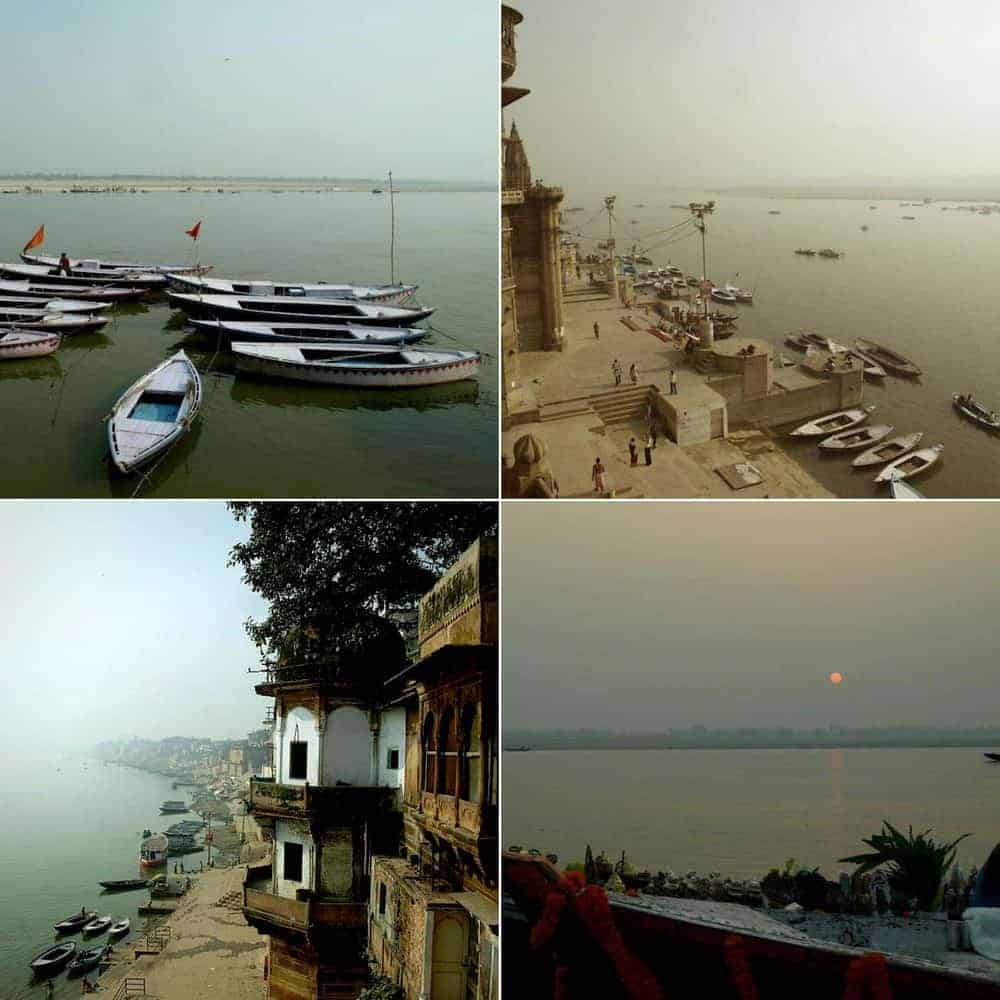 Varanasi (India): Between life & death. view from our room