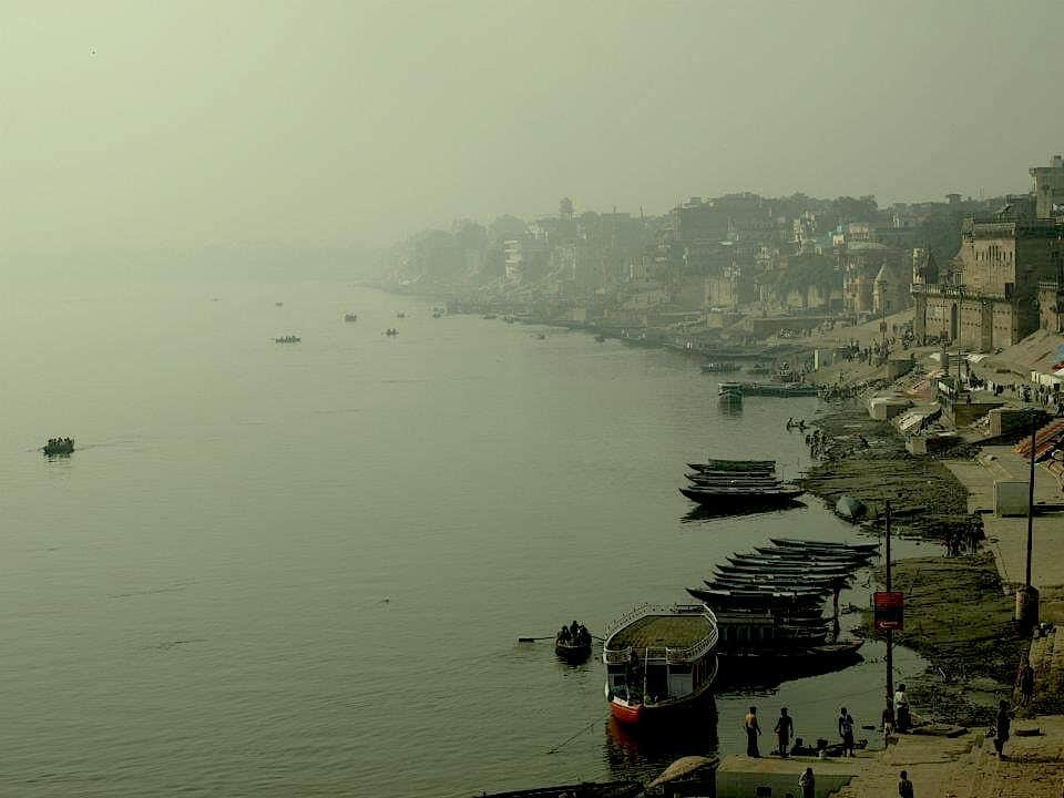 Ganges river mist