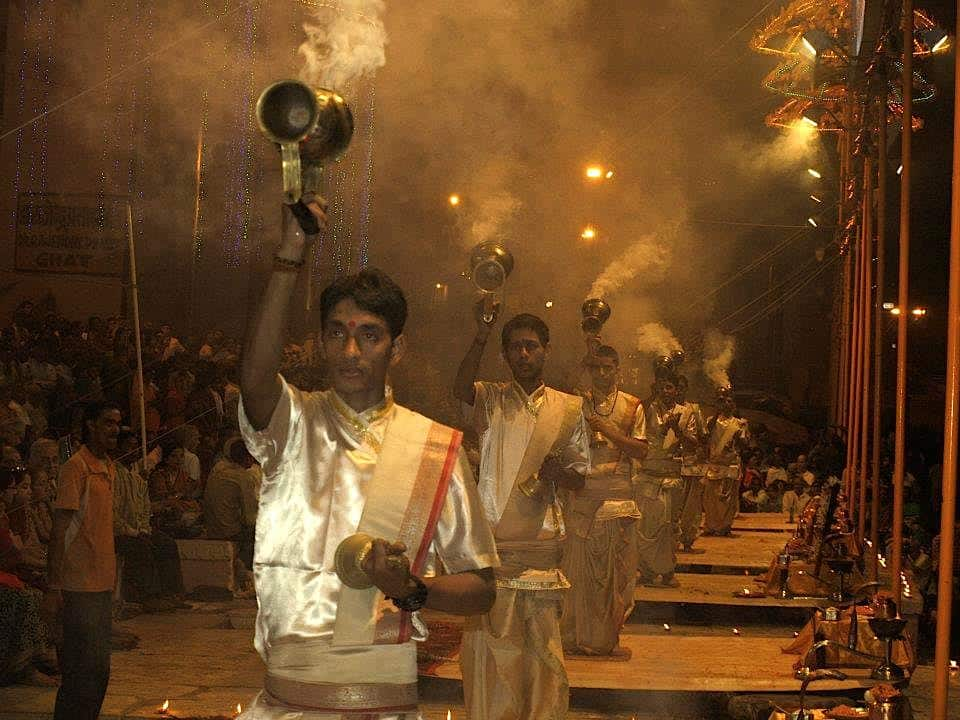 Aarti ceremony in Varanasi