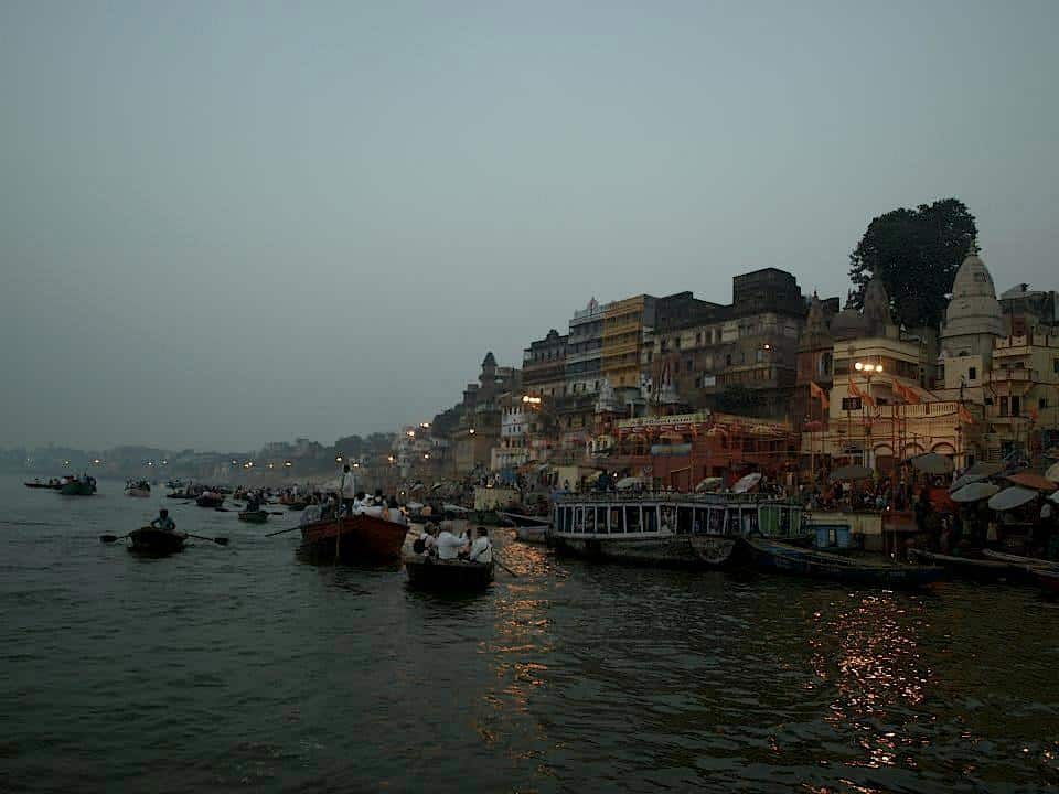 River boating and Varanasi village view